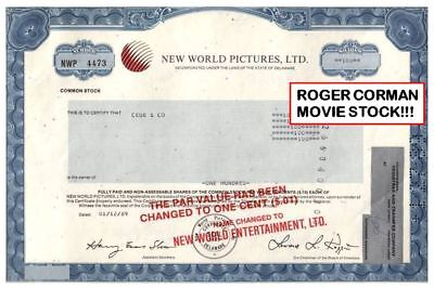 Roger Corman New World Pictures Stock! Owned Marvel Comics! Now Fox! Only Here!