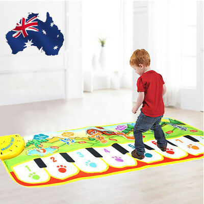 Kids Gift Toy Touch Play Learn Singing Piano Keyboard Music Carpet Mat Blanket
