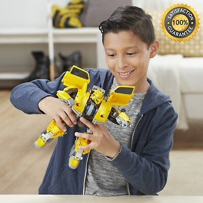 Transformers Power Charge Bumblebee Battle Car Robot Action Figure Kids Toy Play