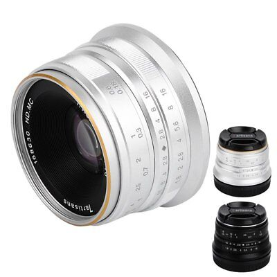 25mm F1.8 HD Manual Focus Wide Angle Lens for Canon EOS M Camera Large Aperture
