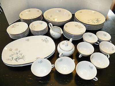 HUGE Vintage Antique 49 Piece ROYAL HEIDEN BAVARIA-GERMANY:Plates/Bowls/Saucers