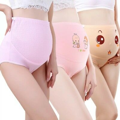 3Pack 100% Cotton High Waisted Maternity Pregnancy Adjustable Panties Underwear