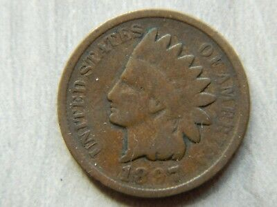 Rare Very Old Antique Collectible US 1897 Indian Head Penny USA Coin Collection
