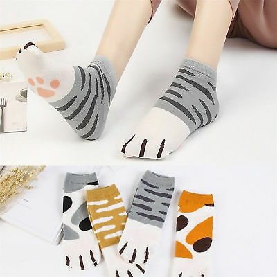 Lady Girls Summer Winter Cartoon Cute Cats Paw Kitten Claws Ankle Short Socks