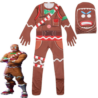 Childrens Gingerbread Man Cosplay Edition Costume Party Rare Halloween Christmas