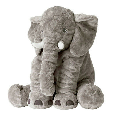 Valentine Gifts Plush Stuffed Animal Toys Baby Shower Elephant Kids Pillow Gray