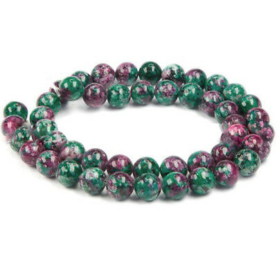 2018 New Natural Multi Ruby Emerald Sapphire Faceted Rondelle Gemstone Beads 8MM