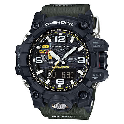 Casio G-SHOCK MASTER OF G MUDMASTER SOLAR Watch GWG-1000-1A3 - Black and Green