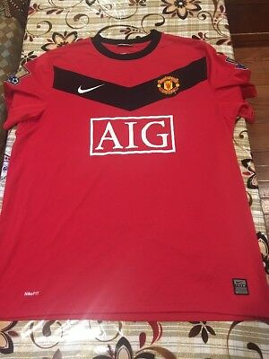 e5f6d543 Used Nike Wayne Rooney Manchester United 09/10 Home Jersey Men's Size (L)