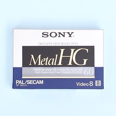 SONY Metal HG P5-60HG High Resolution Video8 8mm Cassette Tape *NEW*