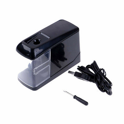 Electric Pencil Sharpener Automatic Battery Operated Powered USB Desktop HU