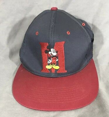 VINTAGE MICKEY MOUSE Disney Unlimited Hat Baseball Cap Plaid ... 18a032e731db