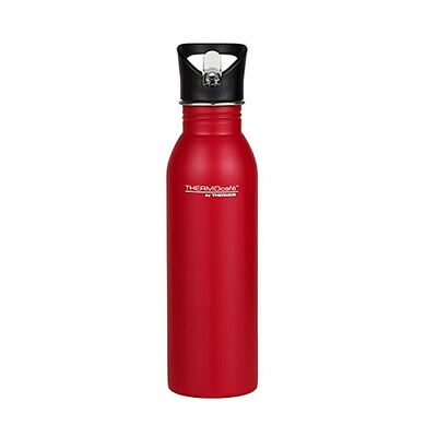 500ML RED Thermos S/Steel Single Wall Hydration Bottle w/Straw