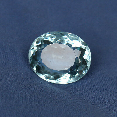 23.75 Ct. Natural Aquamarine Greenish Blue Color Oval Cut Loose Certified Gem
