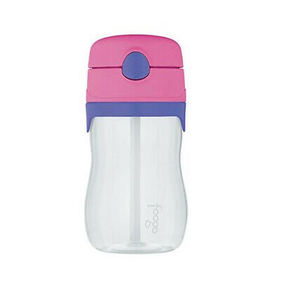 PINK Thermos 320mL Foogo Tritan Plastic Drink Bottle w/Straw