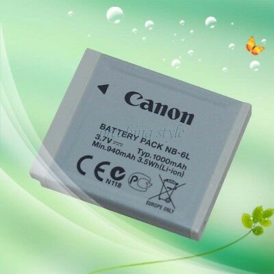 Genuine Original Canon NB-6L Battery for SD1300is SD980 S90 S95 D10 NB-6LH