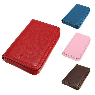 Waterproof Business ID Credit Card Wallet Holder Pocket Case Box Color: Pin W6T7