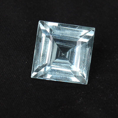 18.50 Ct. Natural Aquamarine Greenish Blue Color Square Cut Loose Certified Gem