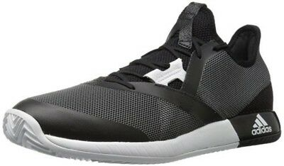 on sale 896e5 d1ce3 Mens Adidas Adizero Defiant Bounce Tennis Shoes (Black  White  Grey)  Cg3077