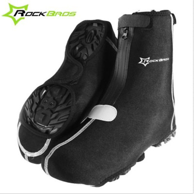RockBros Cycling Shoe Cover Warm Cover Waterproof Protector Rain Overshoes Black