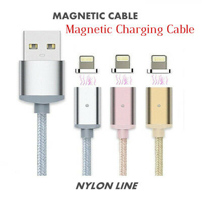 2.4A Magnetic Fast Charging Cable Charger Sync Cable For iPhone X 8 7 6 6S 5 5S