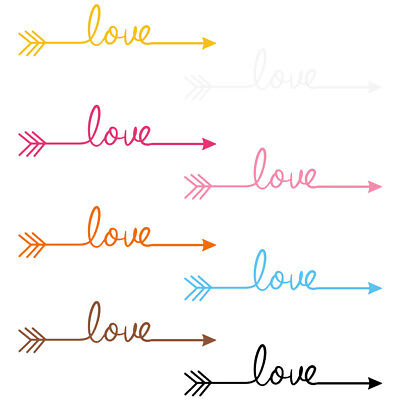 Love Arrow Family Home Quote Wall Stickers Art Room Removable Decals DIY Decor