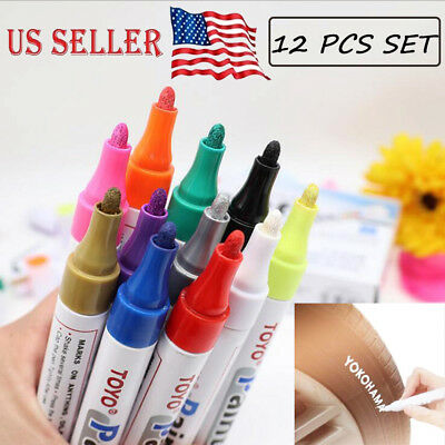 New Waterproof Fine Paint Markers Pens Oil Based Art Glass