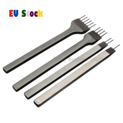 3mm 1/2/4/6 Prong Leather Craft Pricking Iron Diamond Stitching Chisel Hole Punc