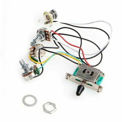 5-Way Switch 250k Pots Knobs Wiring Harness Pickup for Strat Stratocaster Guitar
