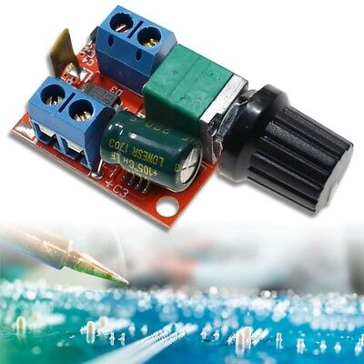 Mini DC 5A Motor PWM Speed Controller 3V-35V Speed Control Switch LED Dimmer NEW