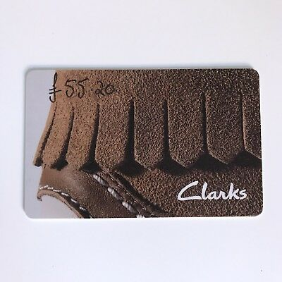 Clarks Gift Card Voucher Credit Note - Total Value Of £55.20