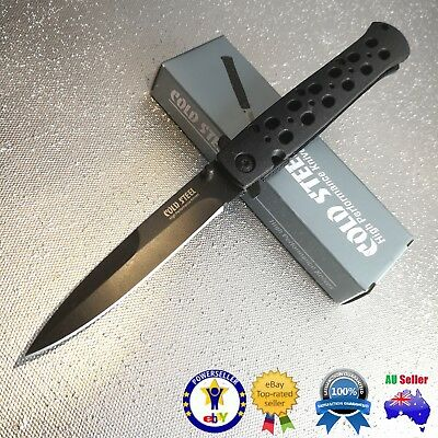 "Cold Steel Stiletto Knife 4"" Blade Flipper Knife Folding Knife camping knife"