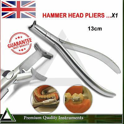 Orthodontic Hammer Head Plier Adjusting Cinch Back Serrated Arch-Wire Forming