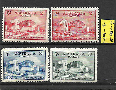 Aust 1932 SYDNEY BRIDGE Set of 4 MLH L%$K +186