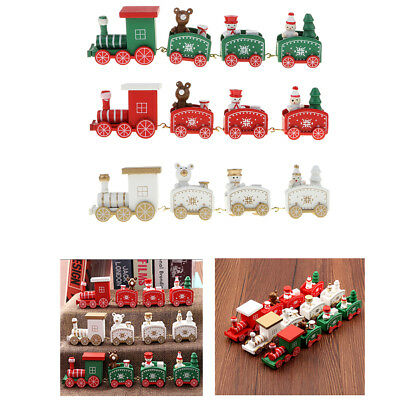 Christmas Wooden Trains Ornaments Gifts For Home Office Party Decoration