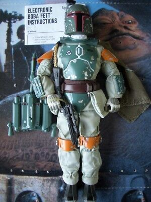 """Star Wars Super Rare Loose 12"""" K.b Toys Store Exclusive Electronic Boba Fett.c10"""