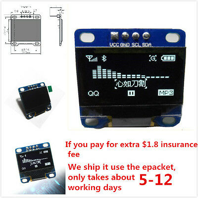 """0.96"""" I2C IIC SPI Serial 128X64 White OLED LCD LED Display Module for Arduin PLC"""