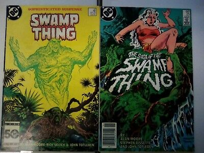 Swamp Thing #25 & 37 - 1st cameo & full appearance of John Constantine