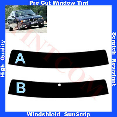 Pre Cut Window Tint Sunstrip for BMW 3 Series E36 4 Doors 1991-1999 Any Shade