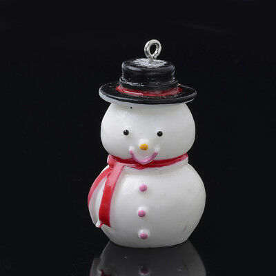 10 Gorgeous Snowman Snowmen Charms Resin Approx 41Mm - Includes Fast Free P&p