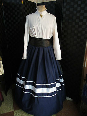 Civil War, Victorian, Edwardian,  Dickens Skirt, Sash, 1 Size Ladies Ribbon Trim
