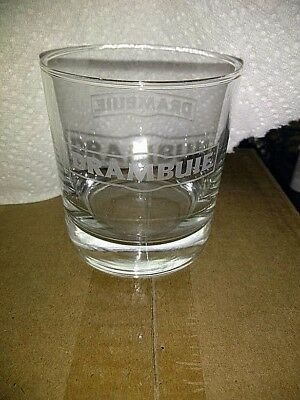 SET OF 6 New In Box  DRAMBUIE SCOTCH WHISKEY ROCKS ETCHED DRINKING GLASSES