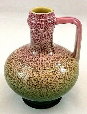 Antique Continental Pottery Bottle with a Coloured Multi Floral Design