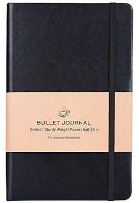 Bullet Journal - Dot Grid Hard Cover Notebook, Premium Thick Paper with Fine