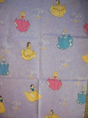 Disney Princesses Dancing On Lavender #5714 100% Cotton Fabric 1.5 Yards