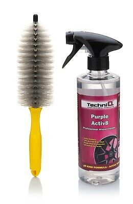 Purple Iron Fall Out ALLOY WHEEL CLEANER + GRILLE & SPOKE BRUSH TechniQ Activ8
