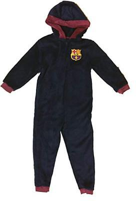 Boys Official FCB Barcelona Football Club Fleece 1Onesie All In One Age 3-4