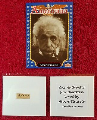 "One Authentic Handwritten Word by ALBERT EINSTEIN - ""Gallery of History"" COA"