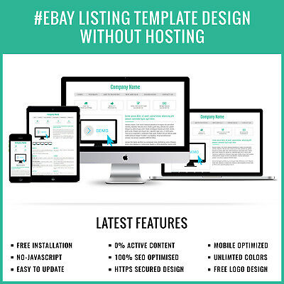 eBay Listing Template Design & Mobile Responsive Design without any hosting