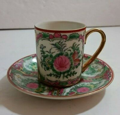 """Vintage Chinese 3"""" Demitasse and Saucer"""